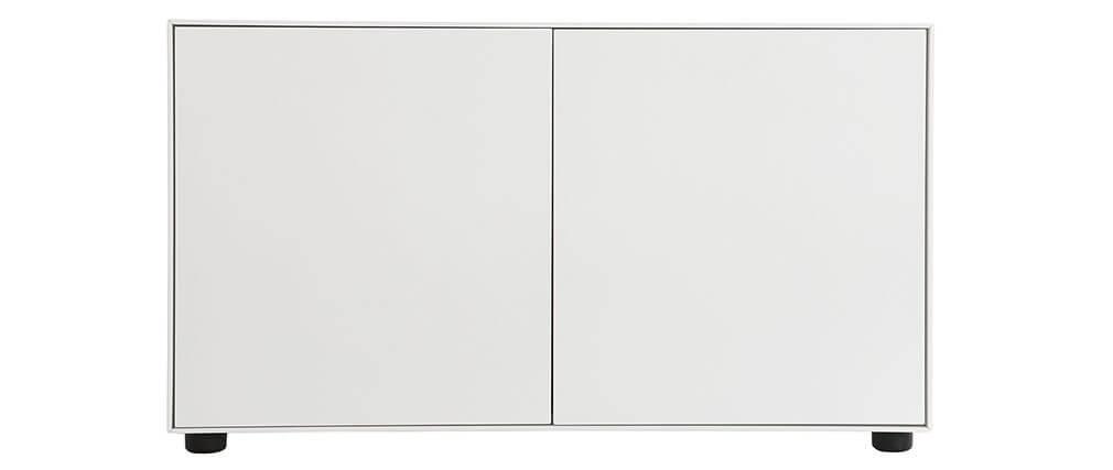 Design-TV-Möbel Weiß matt 90 x 40 cm 2 Türen MARK