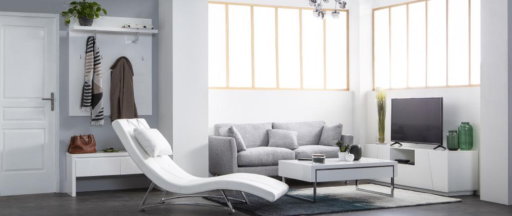 Design-TV-Möbel Weiß matt lackiert ALESSIA