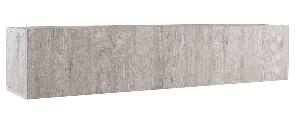 Design-TV-Wandelement Holz Grau horizontal COLORED V2