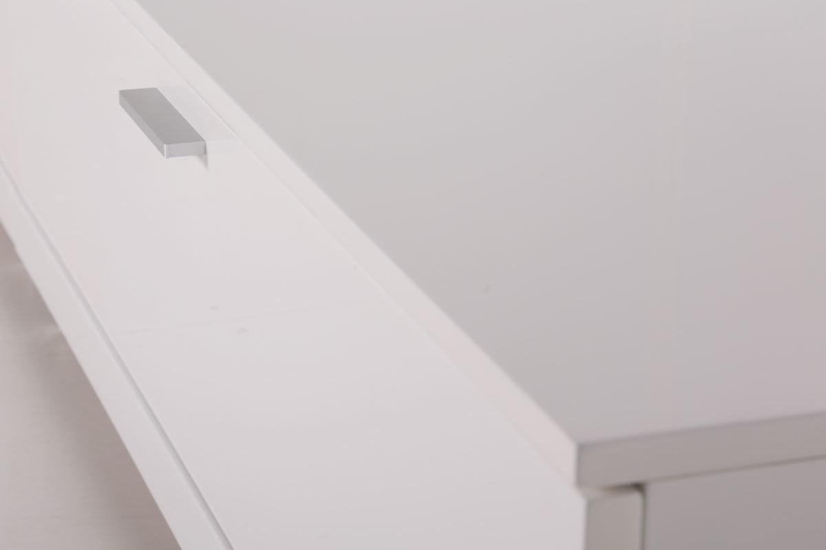 Design-TV-Wandsystem Weiß glänzend ODEON