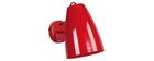 Design-Wandleuchte Metall Rot FRIDAY