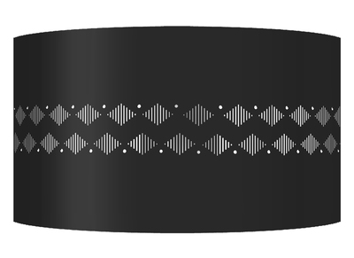 Design-Wandleuchte Metall Schwarz SMART