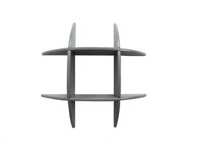 Design-Wandregal Grau matt SHARK