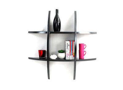 Design-Wandregal SHARK Schwarz