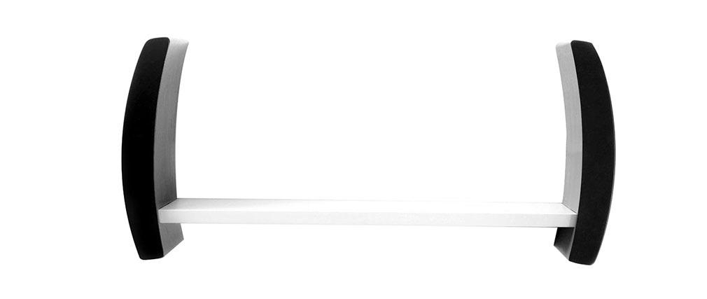 Design-Wandregal TELLA Schwarz und Weiß