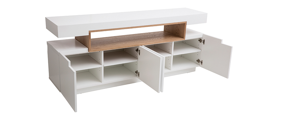 Designer-Anrichte und Holznische weiß matt LIVO