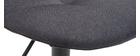 Designer-Barhocker höhenverstellbar dunkelgrau (2er-Set) COX
