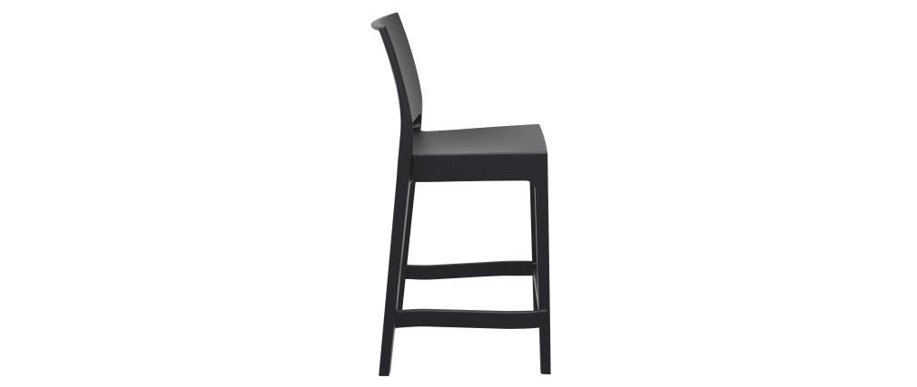 Designer-Barhocker zum Stapeln 65 cm schwarz (4er-Satz) CALAO