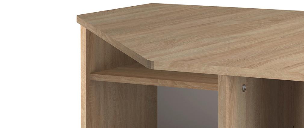 Designer Eckschreibtisch CORNER Holz hell