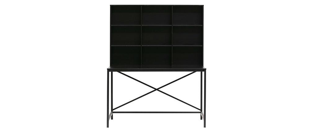 Designer-Schreibtisch aus Holz und schwarzem Metall SCRIB
