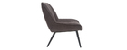 Designer-Sessel aus Stoff mit dunkelgrauem Samteffekt BILLIE