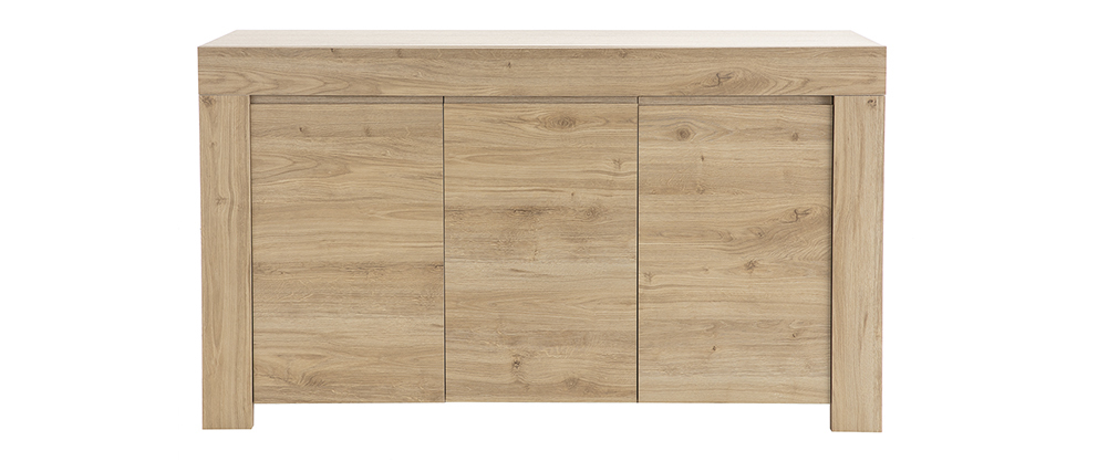Designer-Sideboard in Eichenholz-Dekor L138 cm TINO