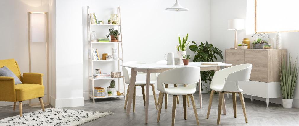 Designer-Stehleuchte aus Holz H165 cm HATHA