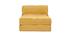 Designer-Stoffsessel verstellbar mit Samteffekt in senfgelb KATY