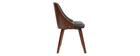 Designer-Stuhl in schwarz und dunklem Holz FLUFFY