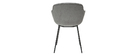 Designer-Stühle aus grauem Veloursstoff mit Samteffekt (2er-Satz) SAKE