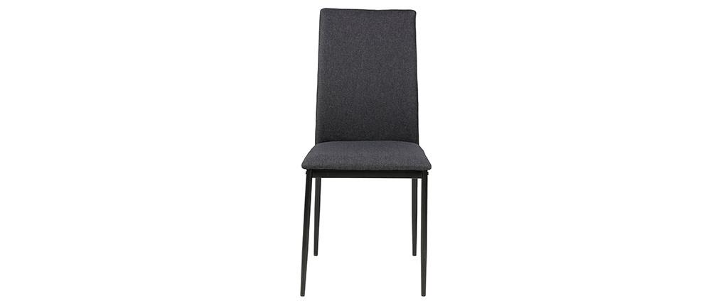 Designer-Stühle in anthrazitgrau ( 4er-Set) LUCKY