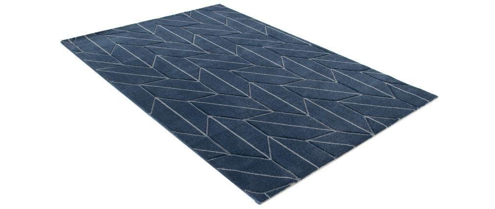 Designer-Teppich blau 160 x 230 cm BRAQ