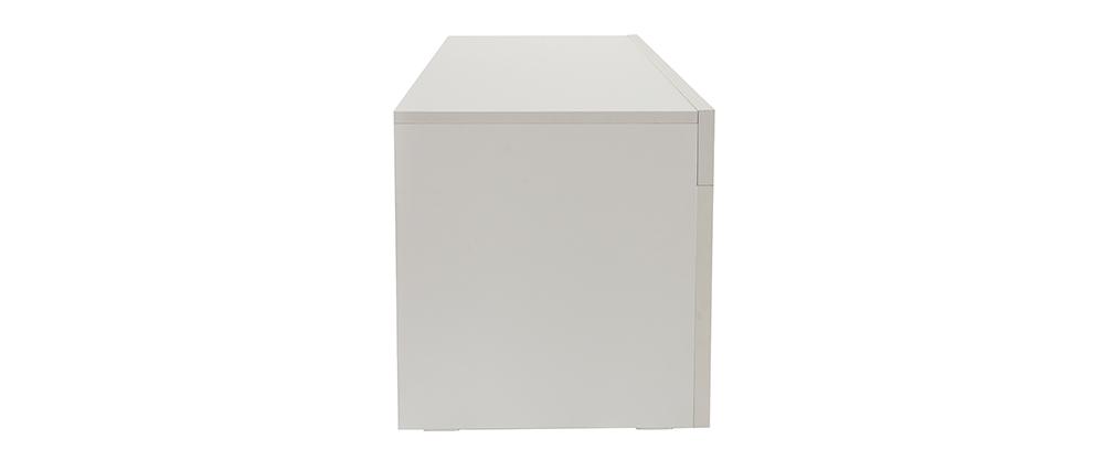 Designer-TV-Schrank matt weiß L138 cm TINO