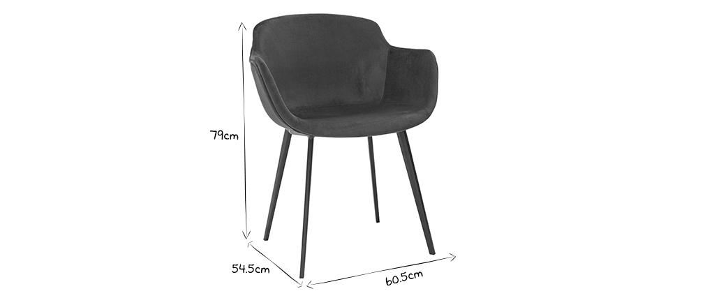 Designerstühle aus blauem Samt (2er-Satz) SAKE