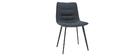 Designstühle mit dunkelgrauem Samteffekt (2er-Satz) PARKER