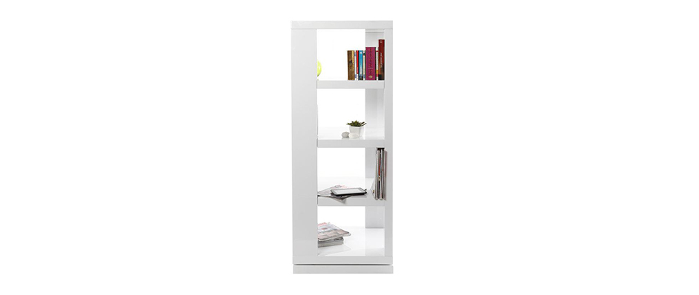 Drehbares Design-Bücheregal MAX Weiß