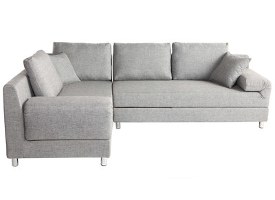 Ecksofa Links Verstellbar Grau CHICAGO