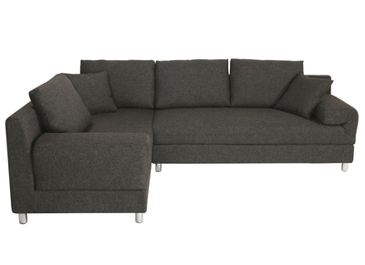 Ecksofa Links Verstellbar Schwarz CHICAGO