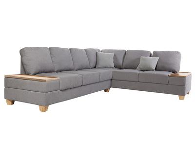 Ecksofa Rechts Design Grau HUGE