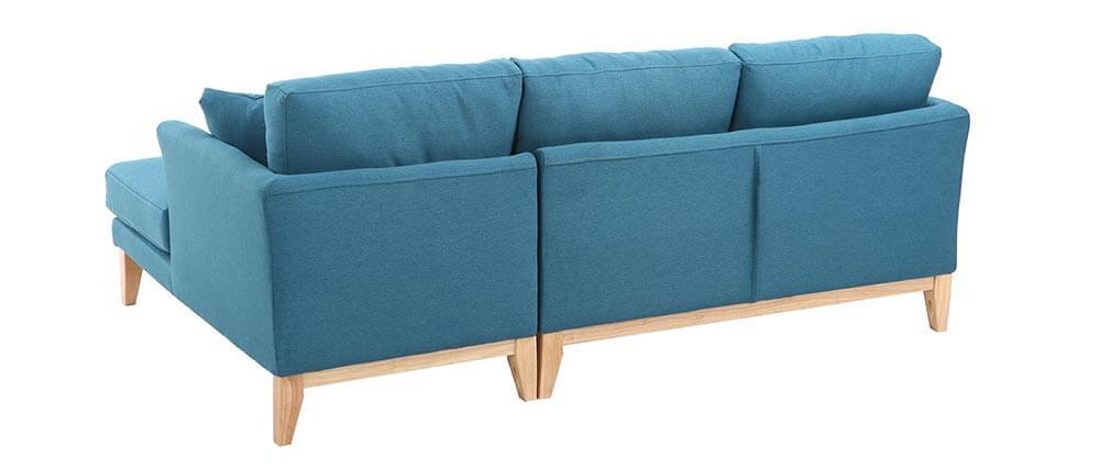 Ecksofa rechts skandinavisch Blaugrün OSLO