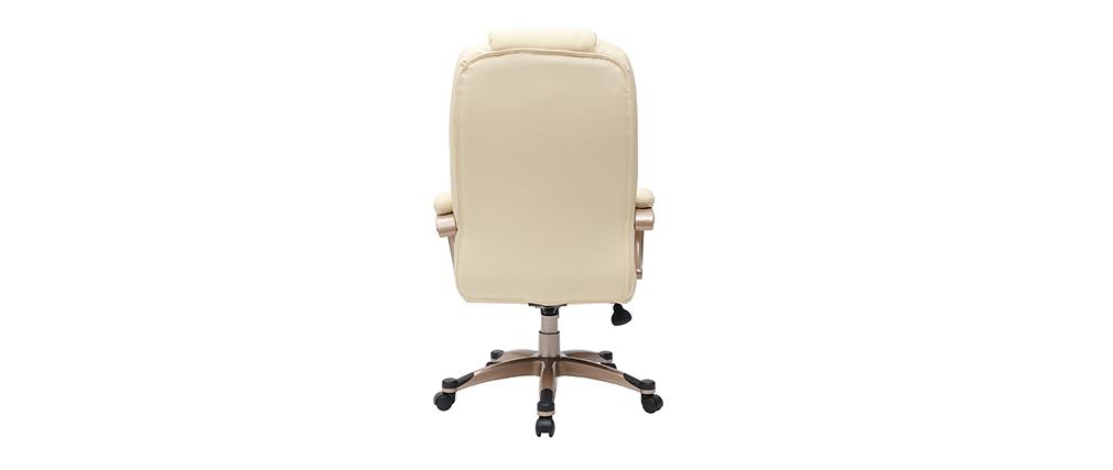Elfenbeinfarbener Bürosessel /Stuhl Toronto