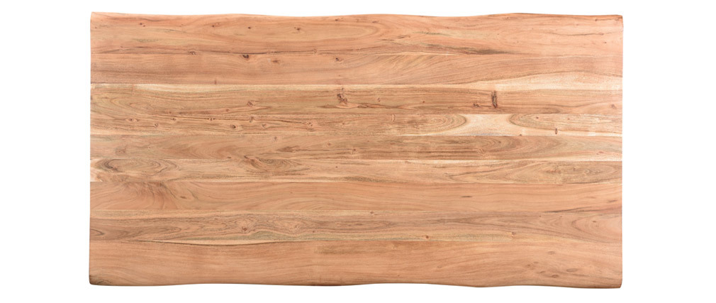 Esstisch aus Akazienholz und Metall L175 EDGE