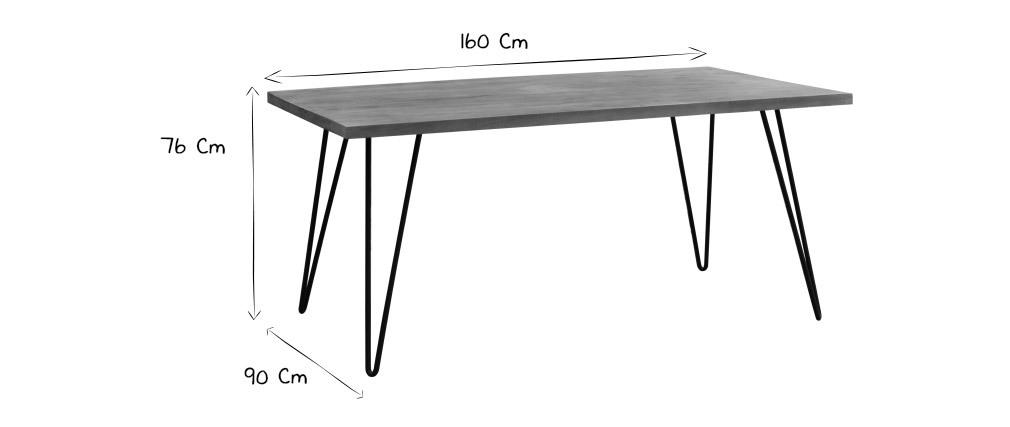 Esstisch aus massivem Mangoholz L160 cm VIBES