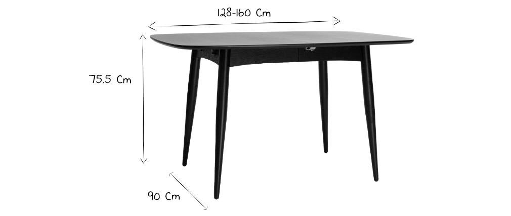 Esstisch ausziehbar Esche naturell L130-160 NORDECO