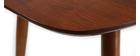 Esstisch ausziehbar Nussbaum naturfarben L130-160 NORDECO