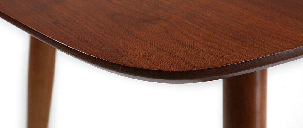 esstisch ausziehbar nussbaum naturfarben nordeco miliboo. Black Bedroom Furniture Sets. Home Design Ideas