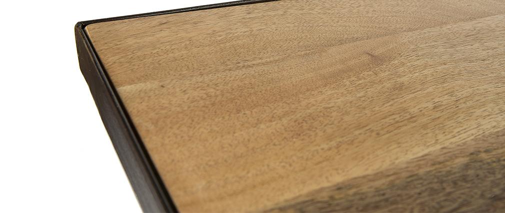 Esstisch industriell rechteckig Holz und Metall L160 ATELIER