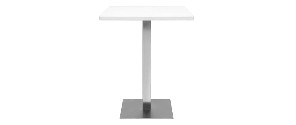 Esstisch JORY in weißem quadratischem Design