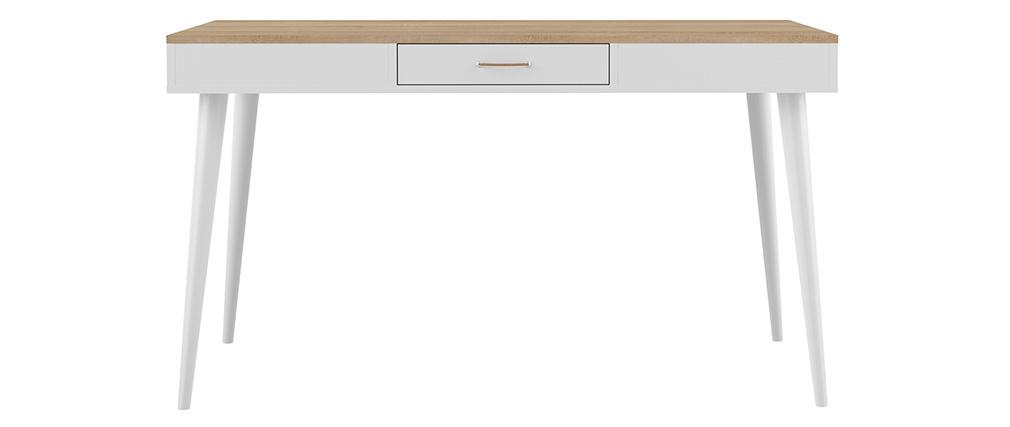 Esstisch skandinavisch Holz und weiß STRIPE