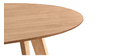 Esstisch skandinavisches Design oval Eiche L160 MARIK