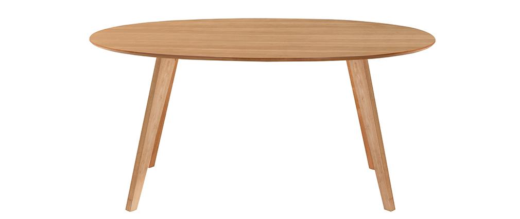 Esstisch skandinavisches design oval eiche marik miliboo for Esstisch skandinavisches design