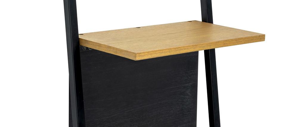 Etagen-Regal aus Holz und Metall schwarz SERAH