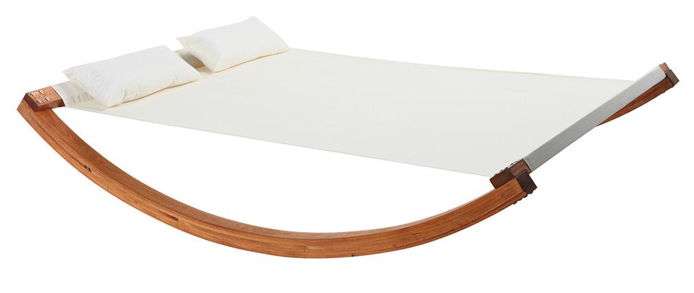 Garten-Doppel-Hängematte / Liegestuhl OUESSANT Wollweiß