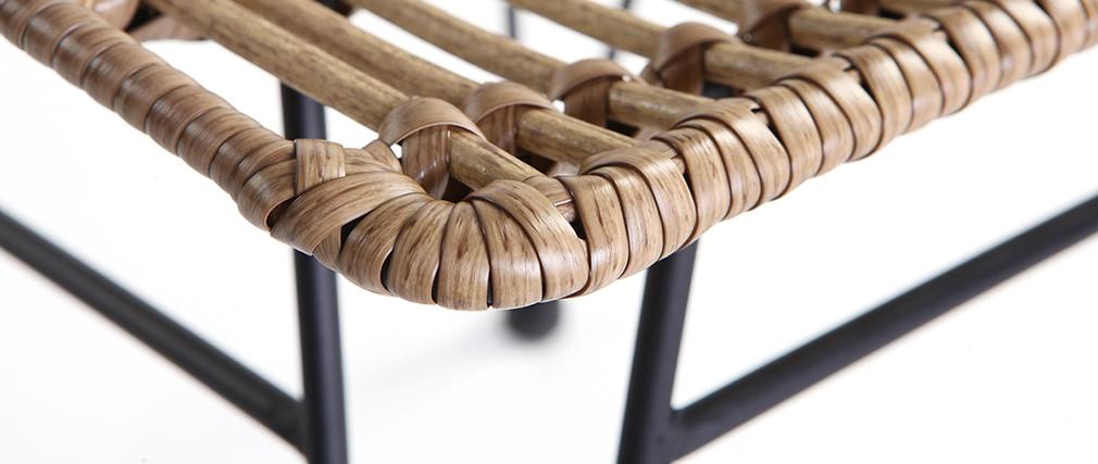 Gartenstuhl MAJA aus Kunststoffgeflecht im Rattanstil