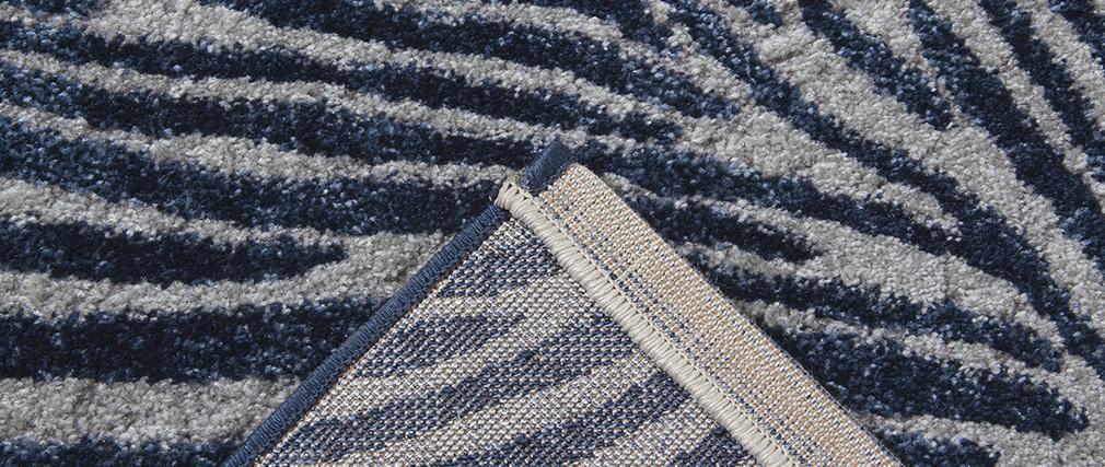 Gemusterter Teppich in Blau und Grau 160 x 230 cm SEA