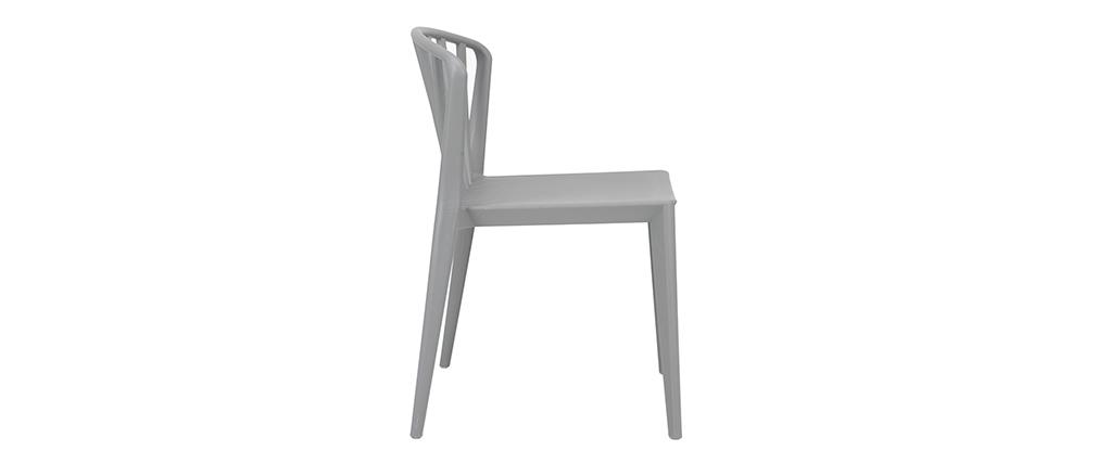 Graue Design-Stühle stapelbar innen/außen ? 2er-Set PATIO