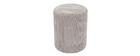 Grauer Cord-Puff D40 cm DUROY