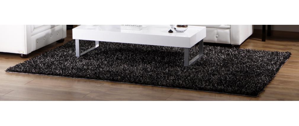 grauer langflor teppich bleuet miliboo. Black Bedroom Furniture Sets. Home Design Ideas