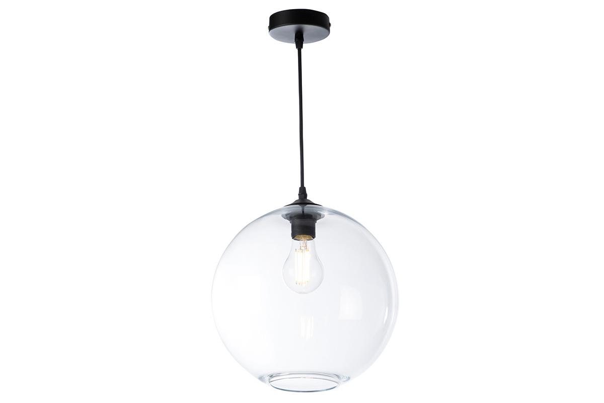 Hängeleuchte aus transparentem Glas Durchmesser 30 cm DUNA