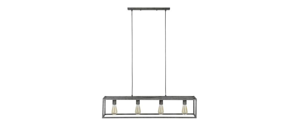 Hängeleuchte Industrial 4 Lampen aus Metall Vintage QUATRO